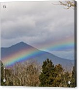 Rainbow In Front Of Sharp Top Acrylic Print