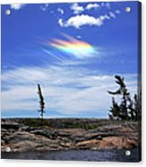 Rainbow In The Clouds Acrylic Print
