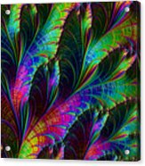 Rainbow Leaves Acrylic Print
