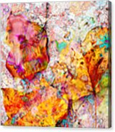 Rainbow Abstract Leaves Acrylic Print
