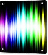 Rainbow Light Rays Acrylic Print by Michael Tompsett