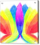 Rainbow Lotus Acrylic Print