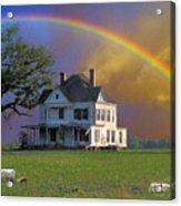 Rainbow Meadow Acrylic Print