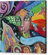 Rainbow Muse Acrylic Print