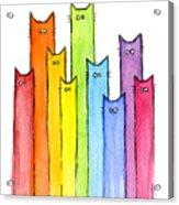 Rainbow of Cats Acrylic Print
