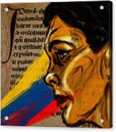 Rainbow Of Words Acrylic Print