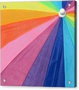 Rainbow On The Beach Acrylic Print