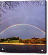 Rainbow On The Double Acrylic Print