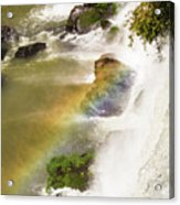 Rainbow On The Falls Acrylic Print