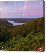 Rainbow Over Broken Bow Lake Acrylic Print