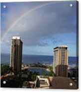 Rainbow Over Hilton Acrylic Print