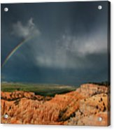 Rainbow Over Hoodoos Bryce Canyon National Park Utah Acrylic Print