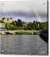 Rainbow Over Inverness Acrylic Print