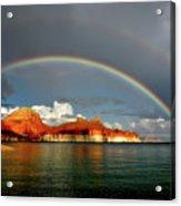 Rainbow Over Lake Powell Acrylic Print