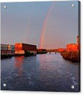 Rainbow Over Lawrence, Massachusetts Acrylic Print