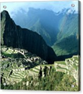 Rainbow Over Machu Picchu Acrylic Print