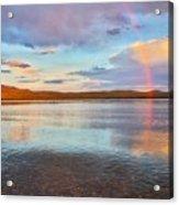 Rainbow Over Magalloway  Acrylic Print