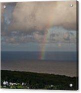 Rainbow Over Maui Acrylic Print