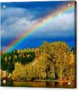 Rainbow Over Mill Pond Acrylic Print