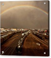 Rainbow Over Moose Jaw Saskatchewan Acrylic Print
