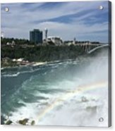 Rainbow Over Niagra Falls Acrylic Print