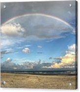 Rainbow Over Ocean Acrylic Print