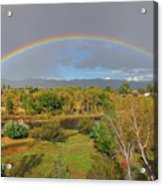 Rainbow Over The Araknsas Acrylic Print