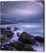 Rainbow Over The Biddeford Pool Acrylic Print