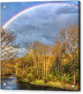Rainbow Over The River Acrylic Print