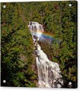 Rainbow Over Whitewater Falls Acrylic Print