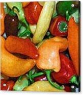 Rainbow Peppers Acrylic Print