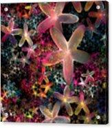 Rainbow Petals Acrylic Print