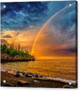 Rainbow Point Acrylic Print