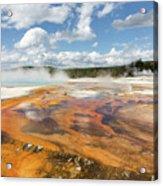 Rainbow Pool In Yellowstone National Park Acrylic Print