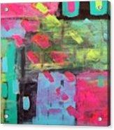 Rainbow Rain Acrylic Print