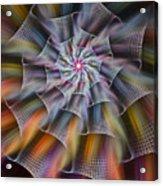 Rainbow Ribbons Acrylic Print