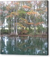 Rainbow River And  Distant Pasture Acrylic Print
