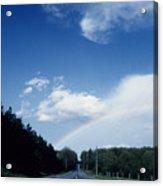 Rainbow Road Blue Sky Acrylic Print