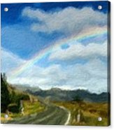 Rainbow Road - Id 16217-152055-0118 Acrylic Print