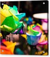 Rainbow Roses Acrylic Print