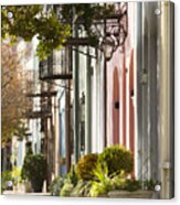 Rainbow Row Charleston Sc 2 Acrylic Print