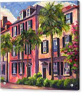 Rainbow Row Charleston Sc Acrylic Print by Jeff Pittman