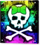 Rainbow Skull Acrylic Print