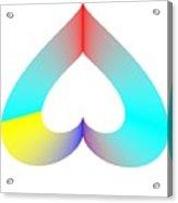 Rainbow Sos Acrylic Print