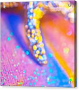 Rainbow Spell And Starfish Acrylic Print