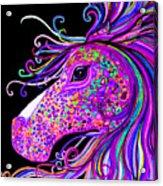 Rainbow Spotted Horse Head 2 Acrylic Print