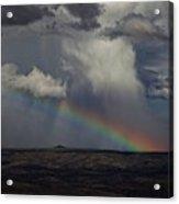 Rainbow Storm Over The Verde Valley Arizona Acrylic Print