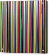 Rainbow Stripe Acrylic Print