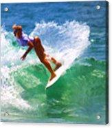 Rainbow Surf Day Acrylic Print
