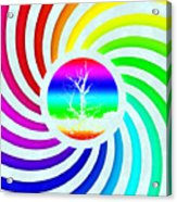 Rainbow Swirl Tree Acrylic Print